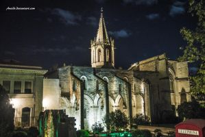 Church in the Night by Aneede