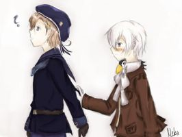 Hetalia - Norway and Iceland by Nekomiira
