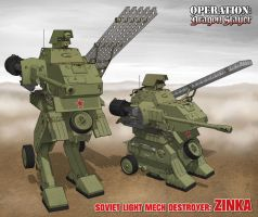 Soviet Light Mech Destroyer Zinka by Rob-Cavanna