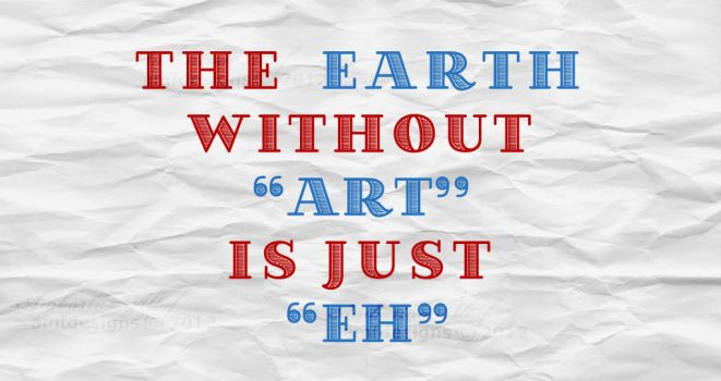 Typography - earth by AMFdesigns