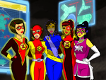 Young Justice Wildcard Girls by KiteBoy1