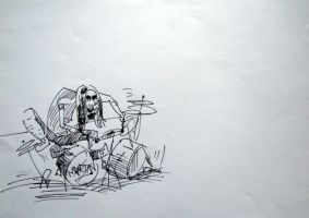 The Drummer by pagone