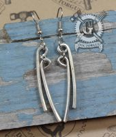 Fork Tine Earrings - Double Tine Version by Doctor-Gus