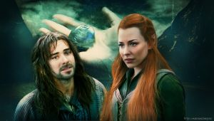 Kili and Tauriel by Marcianca