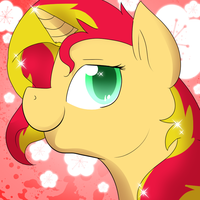 Sunset Shimmer Icon by PixelCorgi