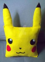 Plush Pikachu Pillow by moonphiredesign
