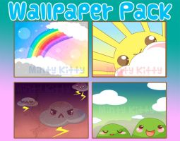 Wallpaper pack 1 by Minty-Kitty-Art