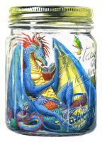 Dragon Jar by Deinia