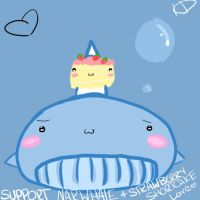 Support Narwhale + Strawberry Shortcake Love. by IceIsMe
