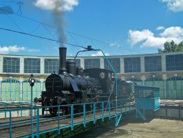 204 steam engine in Budapest Railway Museum... by morpheus880223