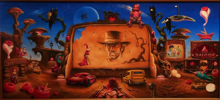 Dusk at the Drive-In...wip by ChristopherPollari