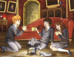 Harry Potter Trio by escapencil