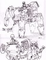 Mech Sketch 1 by Talfox