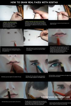Colored Pencil Drawing Tutorial: How to draw a boy by kakosuranosx