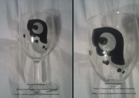 Hand Painted Princess Luna Wine Glass by AppieJackie