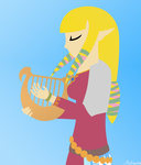 Skyward Sword Zelda (Minimal) by Azbayzia