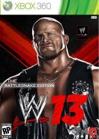 WWE'13 Rattlesnake Edition Cover - Stone Cold by LockdownGFX