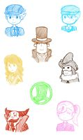 Professor Layton doodles by Squeexchan
