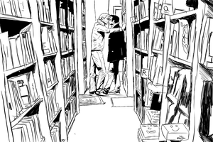 The Library Kiss by Prota-Girl