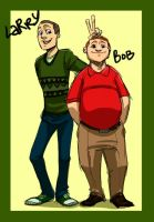 VT: Human Bob and Larry by Crispy-Gypsy