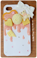 Vanilla Strawberry iPhone 4 Decoden Case by PeachMilktea