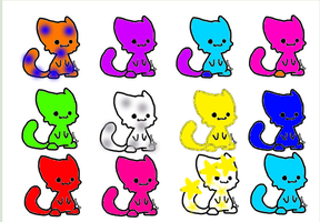 OPEN-1 point kitty adoptables by muffinthehamster11