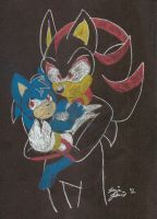 Shadow and Sonie by SonicRemix