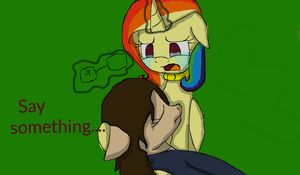 Say something.... by nyan-cat-luver2000