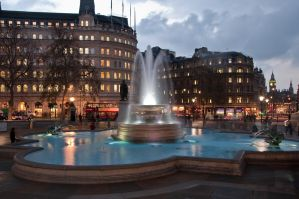 Trafalgar Square by vortxbr