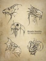 Dragons - scketches by Sedeptra