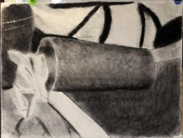 A3-Charcoal Still Life by Rhyrs