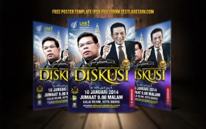 Poster Template Photoshop Free (Diskusi) GiveAway by zestladesign