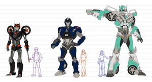 Transformers Prime: WotM OCs concepts by daughterofMyou