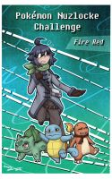 PKMN Nuzlocke Challenge Fire Red - Cover by Lumary92