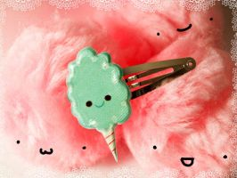 Blueberry Cotton Candy Clip by bobbin4apples