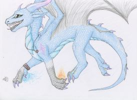 Fire and Ice Dragoness - CE by meroaw