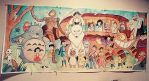 Ghibli Mural for Cassie by ChibiCelina