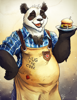 Burger Chef Panda by TasDraws