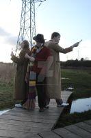 Tenth Doctor, Fourth Doctor And The Fifth Doctor by joker99xdraven