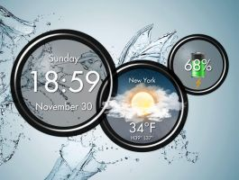 My Atrix HD Widget V1 for xwidget by jimking