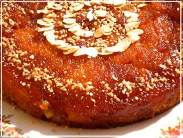 Orange-apple-caramel cake by Younae