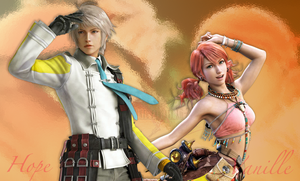 FFXIII2 HopexVanille Wallpaper by PuppyNoelle