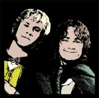 Merry and Pippin Pop Art by drkdsgn