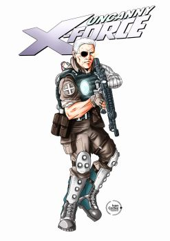 Cable X Force_Cover Sketch by ivancortezvega