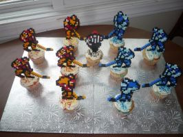 Blades of Steel Cupcakes by ImmortalTanuki