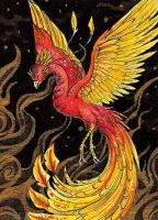 Phoenix ACEO by Fyre-Dragon