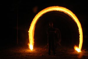 fire lightpaint session @ POLBAN #5 by personalstash