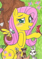 Art Card 23 - Fluttershy by VickyViolet