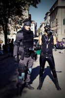 Solid Snake and Psycho Mantis by Zell-Ecstasy
