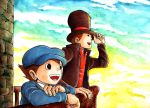 Prof. Layton + The Moldy Wall by e1n
